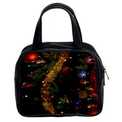 Night Xmas Decorations Lights  Classic Handbags (2 Sides)