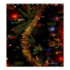 Night Xmas Decorations Lights  Shower Curtain 66  x 72  (Large)