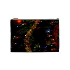 Night Xmas Decorations Lights  Cosmetic Bag (Medium)