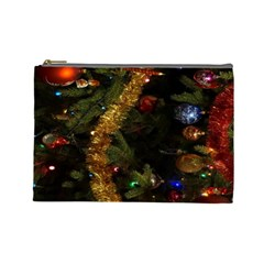 Night Xmas Decorations Lights  Cosmetic Bag (Large)