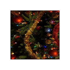 Night Xmas Decorations Lights  Acrylic Tangram Puzzle (4  x 4 )