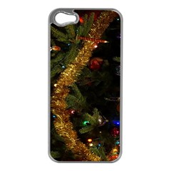Night Xmas Decorations Lights  Apple Iphone 5 Case (silver)