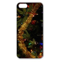 Night Xmas Decorations Lights  Apple Seamless iPhone 5 Case (Clear)