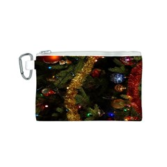 Night Xmas Decorations Lights  Canvas Cosmetic Bag (S)