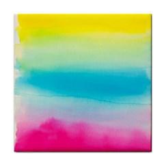 Watercolour Gradient Tile Coasters