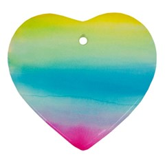 Watercolour Gradient Heart Ornament (Two Sides)