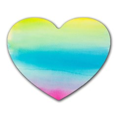 Watercolour Gradient Heart Mousepads