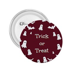 Halloween Free Card Trick Or Treat 2.25  Buttons