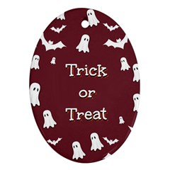 Halloween Free Card Trick Or Treat Ornament (Oval)
