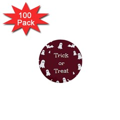 Halloween Free Card Trick Or Treat 1  Mini Buttons (100 pack)