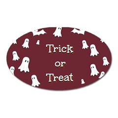 Halloween Free Card Trick Or Treat Oval Magnet