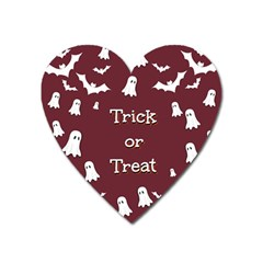 Halloween Free Card Trick Or Treat Heart Magnet