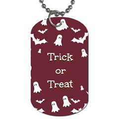 Halloween Free Card Trick Or Treat Dog Tag (One Side)