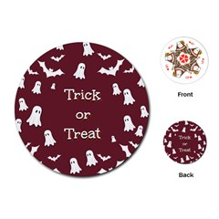 Halloween Free Card Trick Or Treat Playing Cards (Round)
