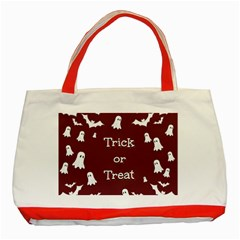 Halloween Free Card Trick Or Treat Classic Tote Bag (red)