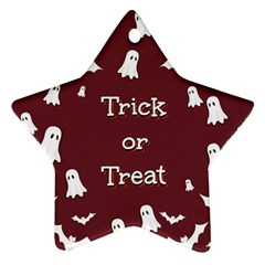 Halloween Free Card Trick Or Treat Star Ornament (two Sides)