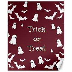 Halloween Free Card Trick Or Treat Canvas 11  X 14