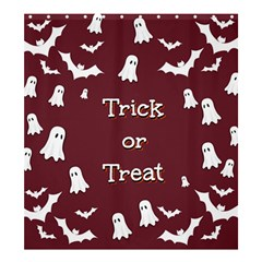Halloween Free Card Trick Or Treat Shower Curtain 66  x 72  (Large)