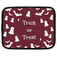 Halloween Free Card Trick Or Treat Netbook Case (XXL)
