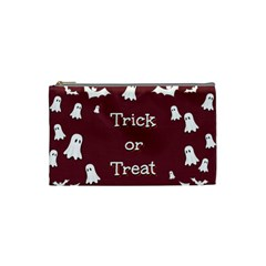 Halloween Free Card Trick Or Treat Cosmetic Bag (Small)