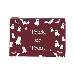 Halloween Free Card Trick Or Treat Cosmetic Bag (Large)