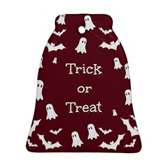 Halloween Free Card Trick Or Treat Ornament (Bell)