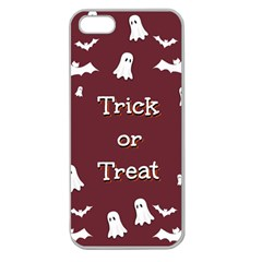 Halloween Free Card Trick Or Treat Apple Seamless iPhone 5 Case (Clear)