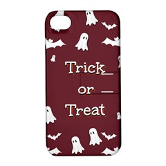 Halloween Free Card Trick Or Treat Apple iPhone 4/4S Hardshell Case with Stand