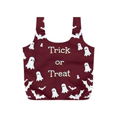 Halloween Free Card Trick Or Treat Full Print Recycle Bags (S)