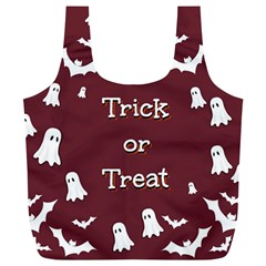 Halloween Free Card Trick Or Treat Full Print Recycle Bags (l)