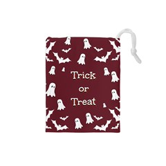 Halloween Free Card Trick Or Treat Drawstring Pouches (Small)