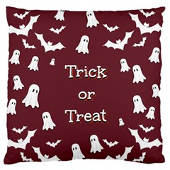 Halloween Free Card Trick Or Treat Large Flano Cushion Case (Two Sides)