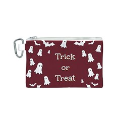 Halloween Free Card Trick Or Treat Canvas Cosmetic Bag (S)