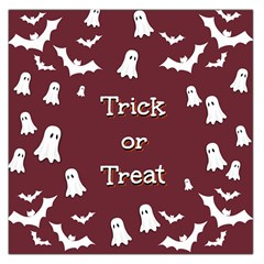 Halloween Free Card Trick Or Treat Large Satin Scarf (Square)