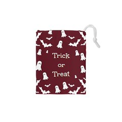 Halloween Free Card Trick Or Treat Drawstring Pouches (XS)