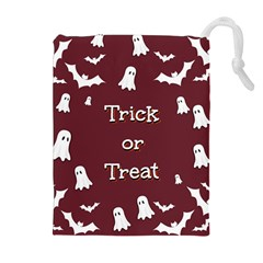 Halloween Free Card Trick Or Treat Drawstring Pouches (Extra Large)