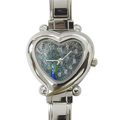 Peacock Four Spot Feather Bird Heart Italian Charm Watch