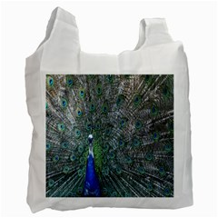 Peacock Four Spot Feather Bird Recycle Bag (Two Side)