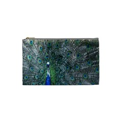 Peacock Four Spot Feather Bird Cosmetic Bag (Small)