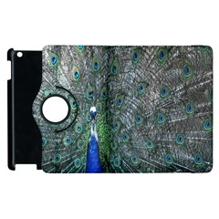 Peacock Four Spot Feather Bird Apple iPad 2 Flip 360 Case
