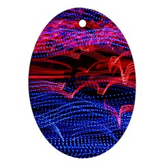 Lights Abstract Curves Long Exposure Ornament (Oval)