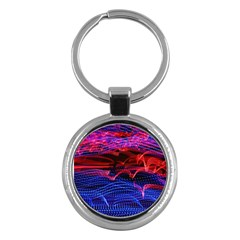 Lights Abstract Curves Long Exposure Key Chains (Round)