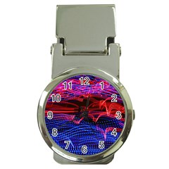 Lights Abstract Curves Long Exposure Money Clip Watches
