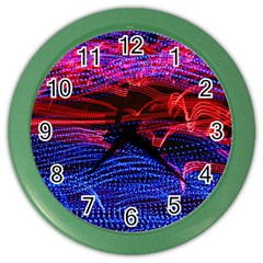 Lights Abstract Curves Long Exposure Color Wall Clocks