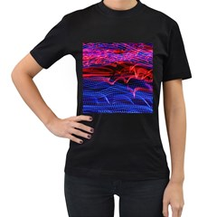 Lights Abstract Curves Long Exposure Women s T-Shirt (Black)