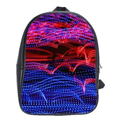 Lights Abstract Curves Long Exposure School Bags (XL)