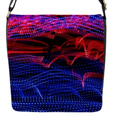 Lights Abstract Curves Long Exposure Flap Messenger Bag (S)