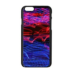 Lights Abstract Curves Long Exposure Apple iPhone 6/6S Black Enamel Case