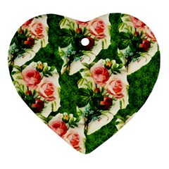Floral Collage Ornament (Heart)