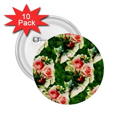 Floral Collage 2.25  Buttons (10 pack)